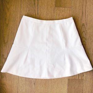 J. Crew White A-Line Skirt